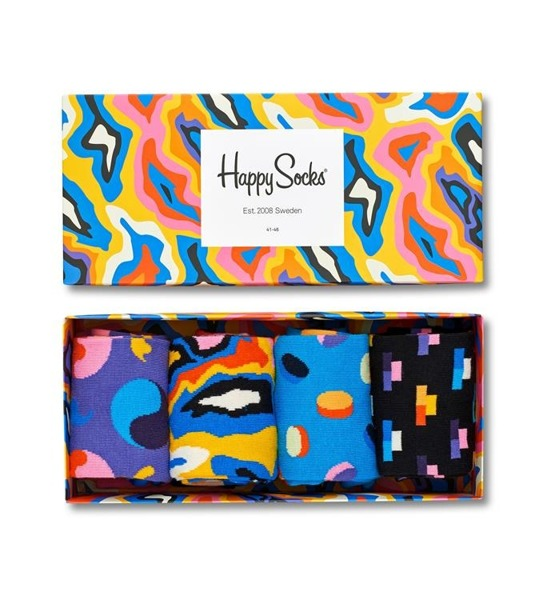 Giftbox (4-pak) skarpetki Happy Socks XPOP09-6001
