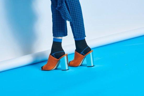 Skarpetki Happy Socks HYSTERIA Lily Rib Ankle Sock SISLIL12-9000
