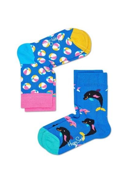 Skarpetki dziecięce (2-pak) Happy Socks KBEB02-6000