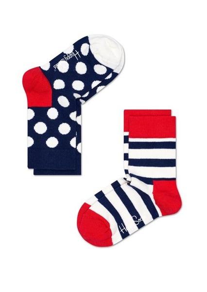 Skarpetki dziecięce Happy Socks 2-pak Stripe KSTR02-4000