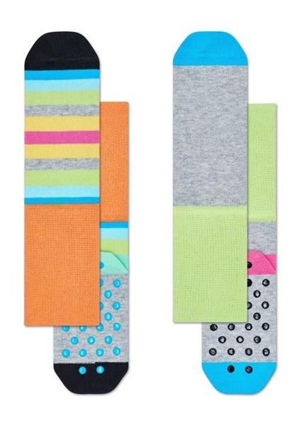 Skarpetki dziecięce antypoślizgowe (2-pak) Happy Socks KSTR19-7000